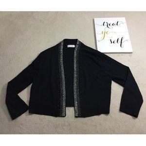 Calvin Klein Womens Cardigan Black Size L - B308